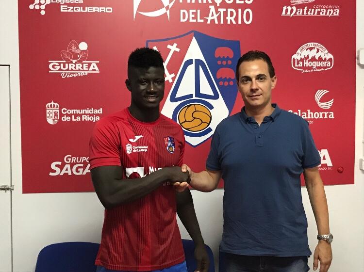 Photo of Samuel Obeng, nuevo fichaje del CD Calahorra.