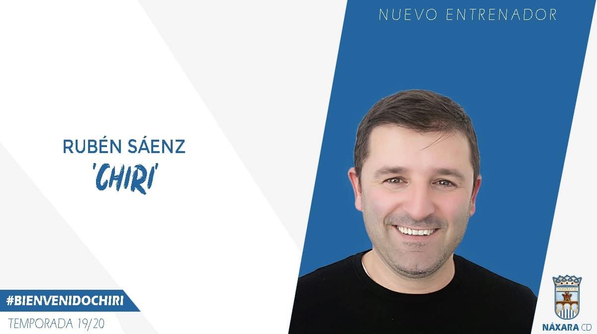"""Photo of Rubén Sáenz """"Chiri"""", nuevo entrenador del Náxara CD"""