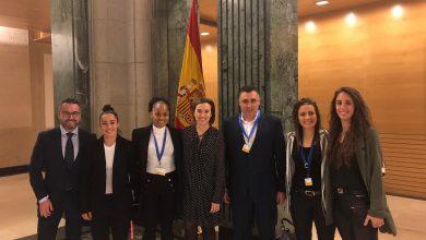 Photo of Merino y Gamarra presentes en la presentación del primer convenio colectivo del fútbol femenino