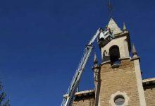Photo of Una malla provisional para proteger la torre de los juzgados de Haro
